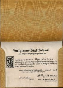 Blynn Allan Perkins diploma