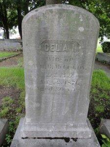 Celia McCurdy gravestone