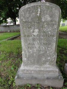 L. Isabel McCurdy Crawford gravestone