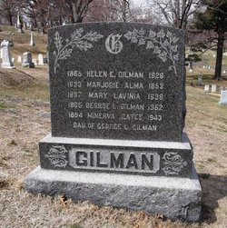 Gravestone of George and Helen Gilman © 2010-2014 John Glassford on Find A Grave