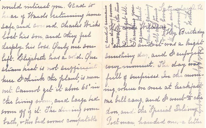 Chapman letter front