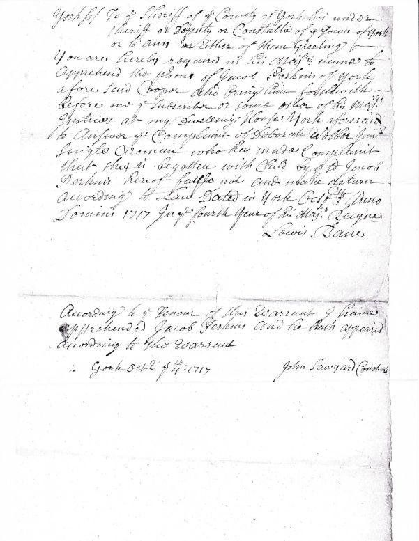 Jacob Perkins Warrant
