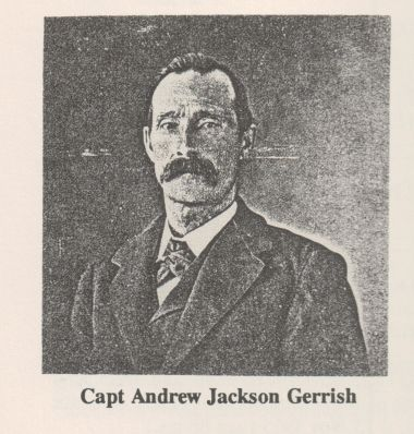 Photo of Andrew Jackson Gerrish from the Early Families of Gouldsboro, Maine by Muriel Sampson Johnson