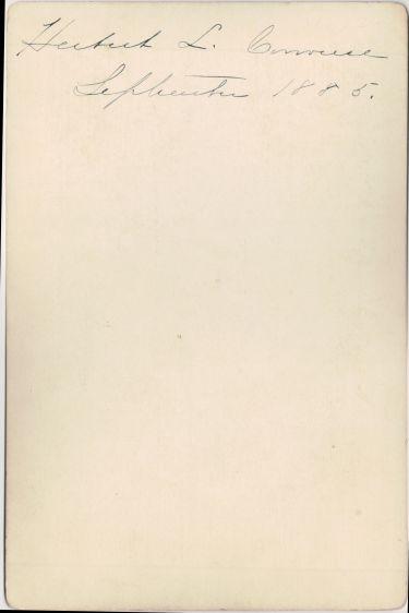 Herbert L. Converse verso