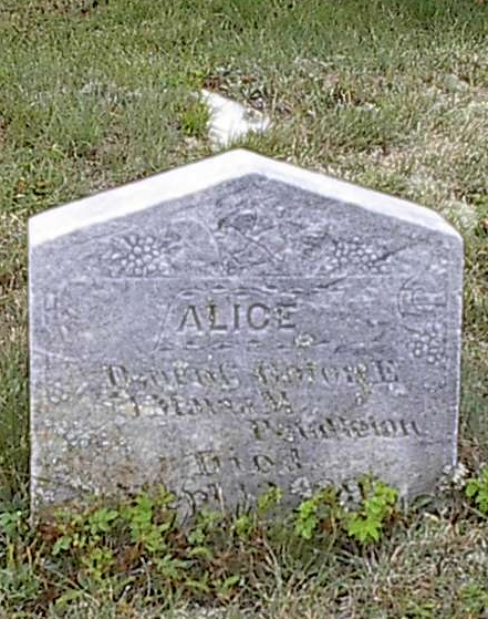 Alice Pendleton & infant Pendleton stones