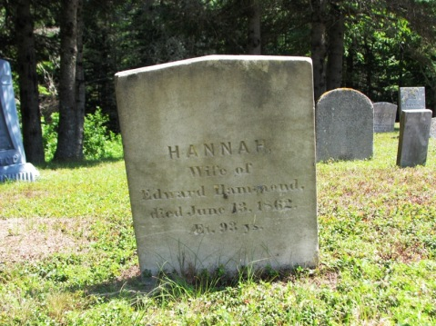 Gravestone of Hannah (Pettingill) Hammond